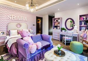 欧式风格大户型温馨公主房儿童房装修效果图