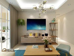 100平米都市清新风格室内装修效果图案例