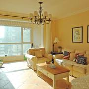 美式田园风格两居室客厅装修效果图赏析