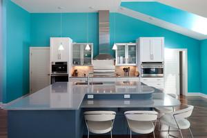 现代简约风格清新厨房装修效果图赏析
