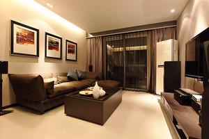 96平米后现代风格冷色调两室两厅室内装修效果图