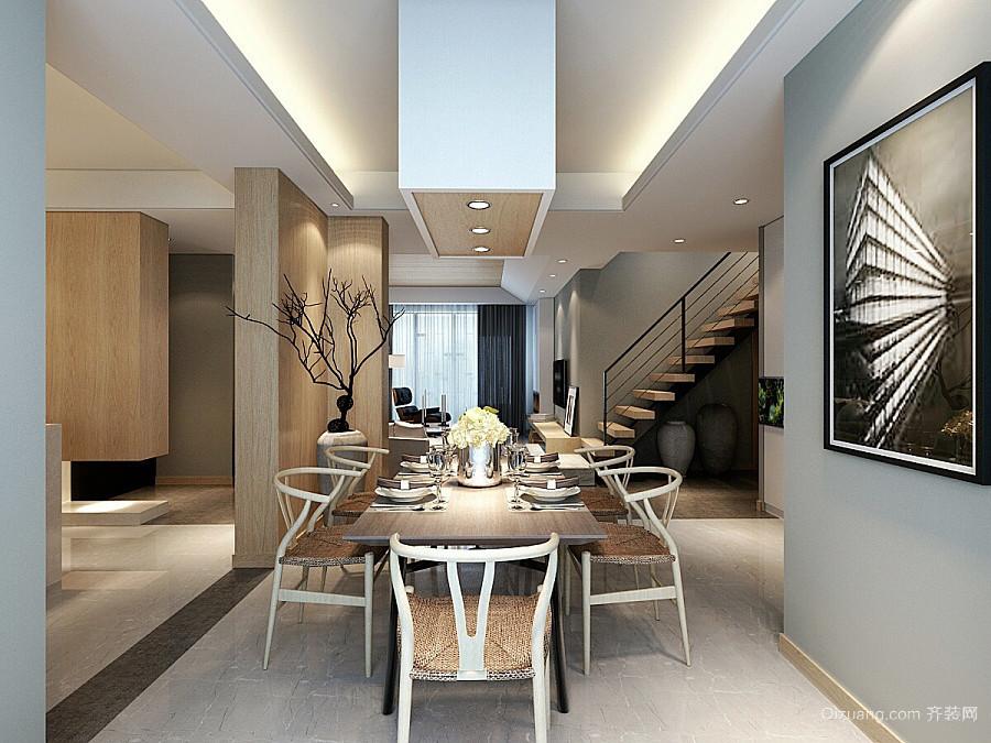 120平米新中式风格精致复式楼室内装修效果图图片