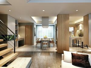 120平米新中式风格精致复式楼室内装修效果图