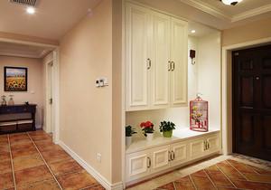 现代简约美式风格进门玄关鞋柜装修实景图