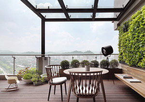 东南亚风格大户型阳台花园装修效果图赏析