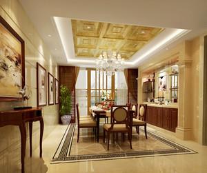 169平米中式风格复式楼室内装修效果图赏析