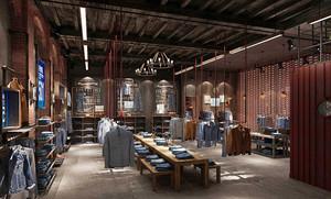 现代工业风格服装店设计装修效果图赏析