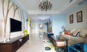 90平米美式田园风格三居室装修效果图赏析