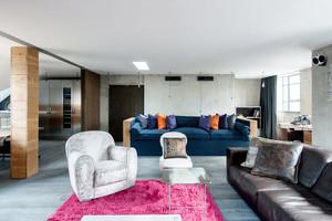 100平米独特魅力现代工业风格室内装修效果图