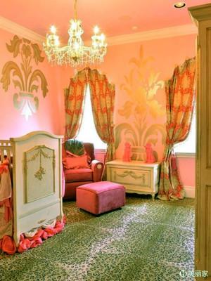 欧式风格公主房主题儿童房设计装修效果图大全