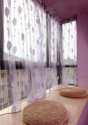 浪漫温馨现代简约室内飘窗窗帘装修效果图