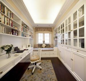 简欧风格大户型室内书房榻榻米装修效果图
