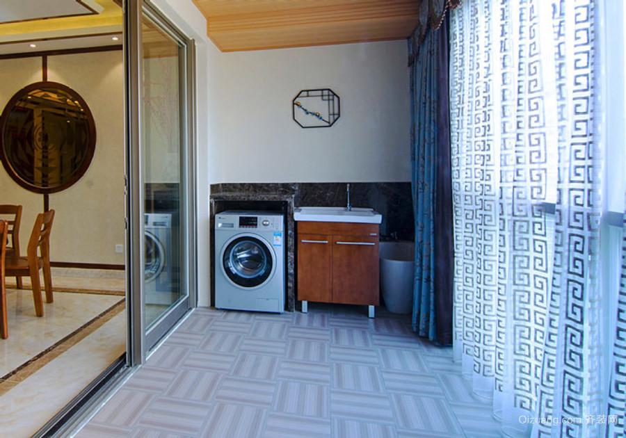 现代风格大户型阳台窗帘设计装修效果图