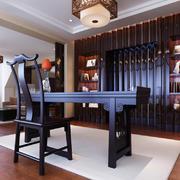 中式风格古朴雅韵书房设计装修效果图赏析