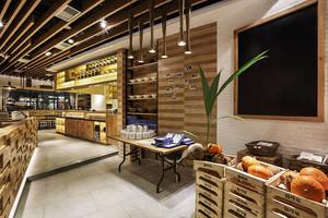 70平米乡村风格主题咖啡厅装修效果图
