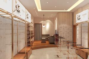 45平米中式风格服装店展柜设计装修效果图