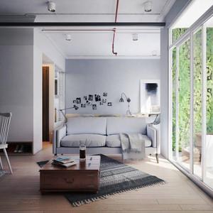 59平米北欧风格精致单身公寓装修效果图赏析