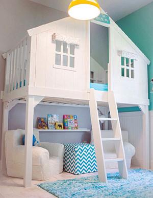 简欧风格创意浅色儿童房装修效果图