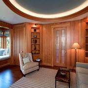 美式风格别墅书房飘窗装修效果图