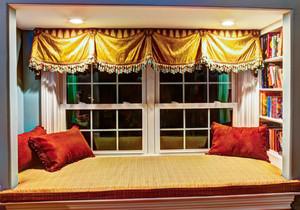 东南亚风格精致飘窗垫设计装修效果图