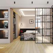 后现代风格小户型卧室隔断设计装修效果图
