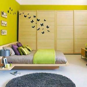 宜家风格两居室卧室衣柜装修效果图