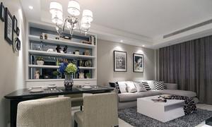 106平米现代简约风格三室两厅室内装修效果图