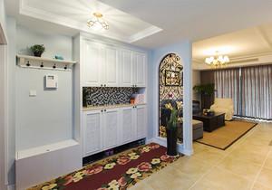 现代美式风格大户型玄关衣柜装修效果图赏析