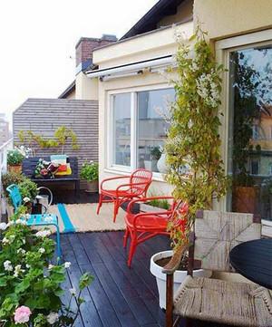 唯美简约阳台花园设计装修效果图大全