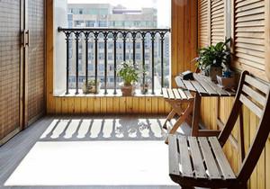 宜家风格朴实阳台设计装修效果图