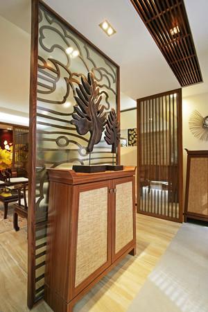 中式风格精致典雅玄关设计装修效果图大全