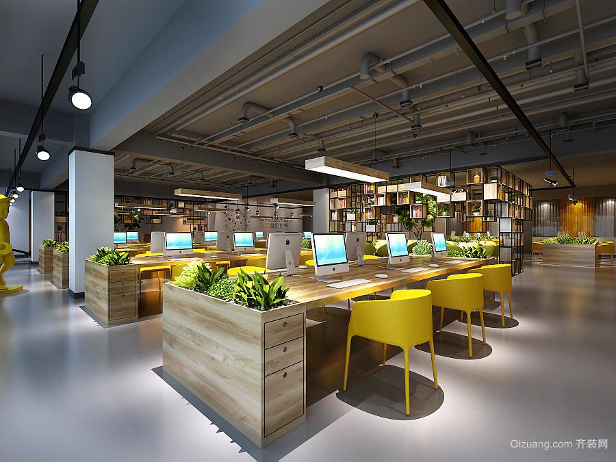 160平米现代风格办公室吊顶设计装修效果图