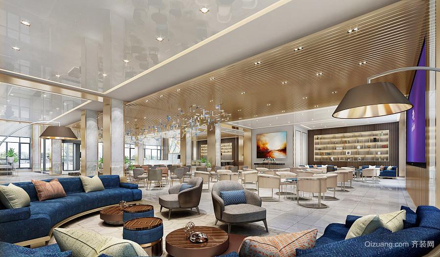 200平米欧式风格西餐厅设计装修效果图
