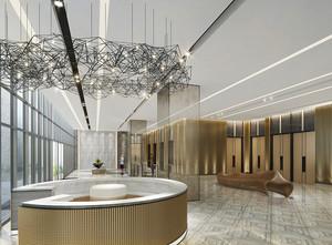 现代风格五星级酒店大堂设计装修效果图
