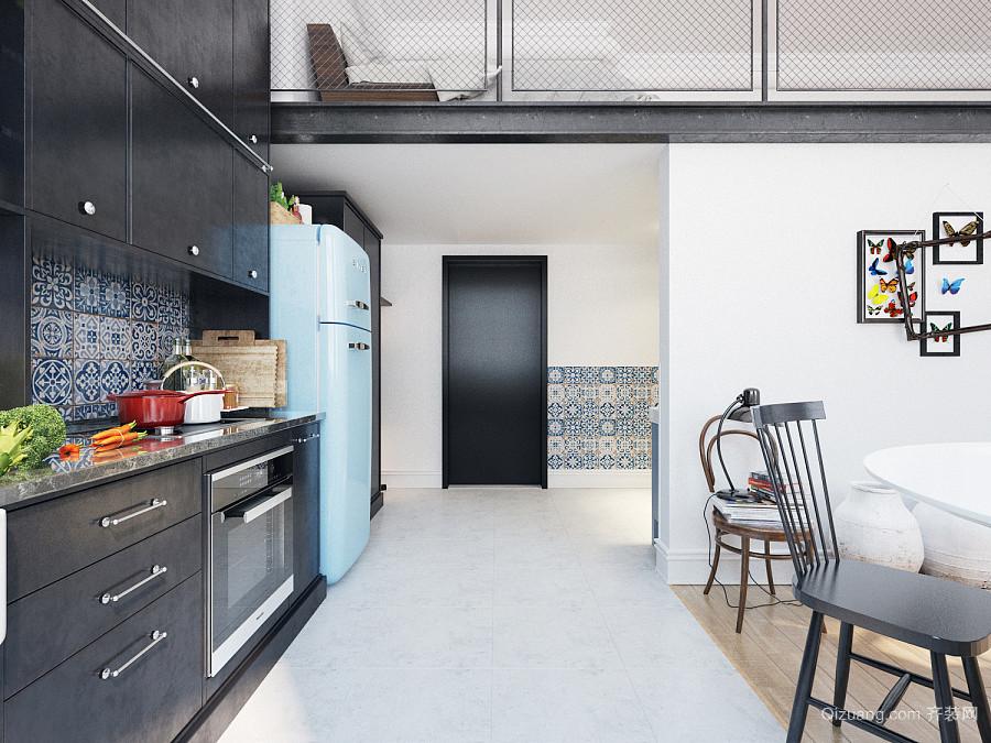 70平米北欧风格loft装修效果图案例