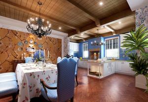 地中海风格时尚混搭厨房餐厅装修效果图赏析