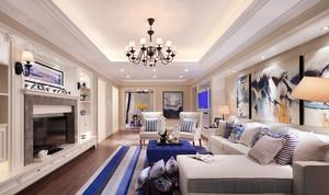120平米清新地中海风格室内装修效果图案例