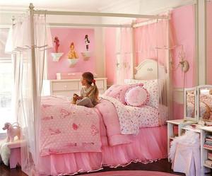 简欧风格别墅室内粉色公主儿童房装修效果图
