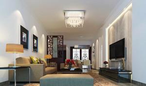 现代风格客厅吸顶灯装修效果图