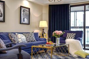 152平米美式风格大户型室内装修效果图案例