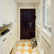 现代美式风格大户型进门玄关衣柜装修效果图