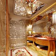 欧式风格别墅精致奢华卫生间浴室柜装修效果图