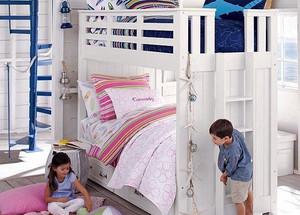 简欧风格轻快双层儿童床装修效果图大全