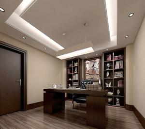 中式风格三居室室内书房装修效果图赏析