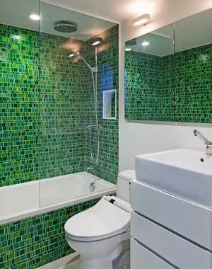 现代简约风格两居室卫生间马赛克装修效果图