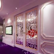 简欧风格大户型室内卧室门装修效果图