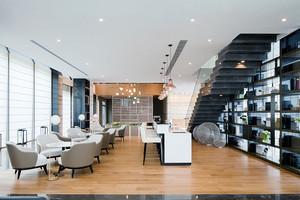 130平米现代风格高档咖啡厅设计装修效果图