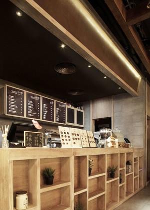 宜家风格咖啡厅前台设计装修效果图