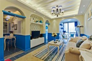 地中海风格大户型客厅沙发装修效果图赏析