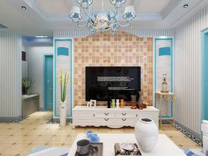 简约地中海风格一居室小户型装修效果图赏析